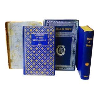 Antique Blue Petite Books - Set of 4