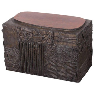 Paul Evans Sculpted Bronze Side Table