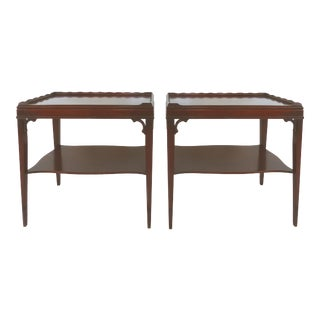 1940s Mahogany Side Tables- a Pair