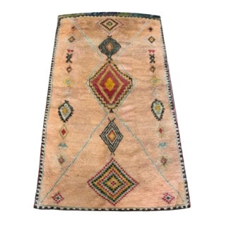 Orange & Black Moroccan Rug - 4′4″ × 8′9″