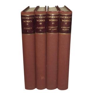 Antique Emerson Books - Set of 4