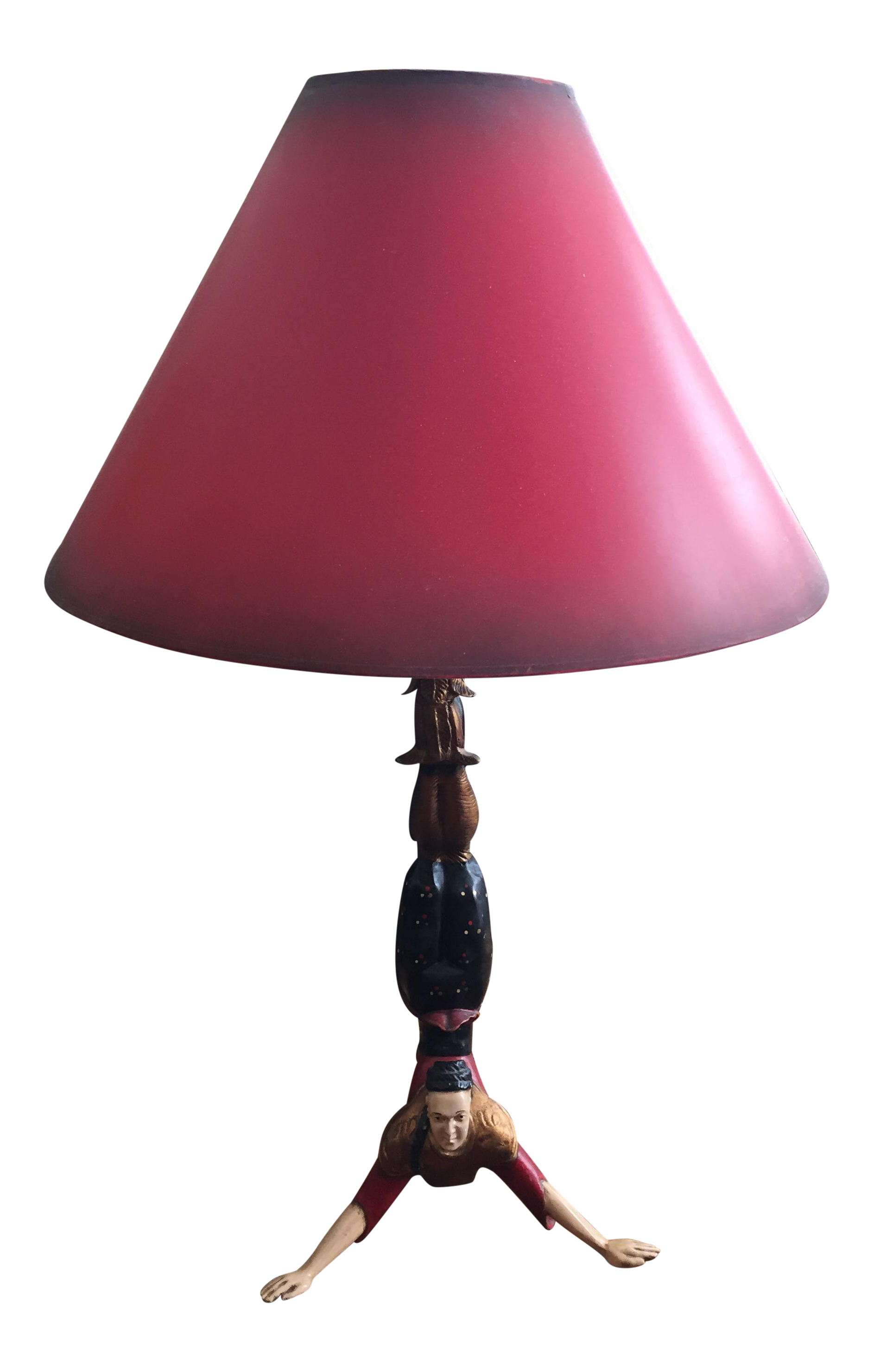 Chinese Acrobatic Table Lamp