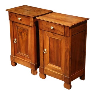 19th Century French Louis Philippe Bedside Tables - A Pair
