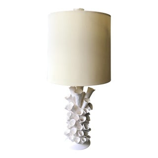 Mecox Barnacle Style White Porcelain Lamp
