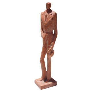 Austin Prod Inc Terracotta Sculpture of Gentleman