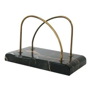 Marble & Brass Desk Organizer