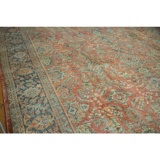 "Vintage Distressed Mahal Carpet - 10'8"" x 13'8"" - Image 10 of 10"