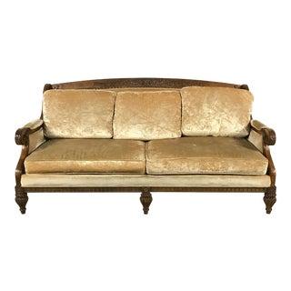 Vintage Gold Velvet Sofa