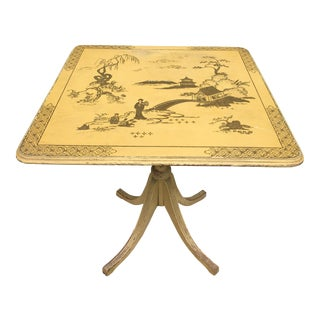 Vintage Painted Chinese Articulating Table