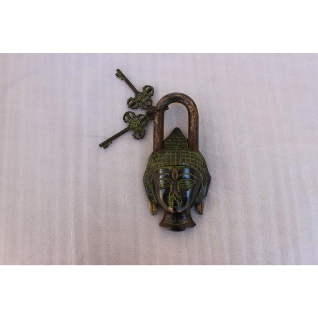 Image of Tibetan Buddha Head Bronze Mystery Lock