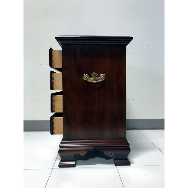 JF Delwood Solid Cherry Chippendale Chairside Chest - Image 6 of 11