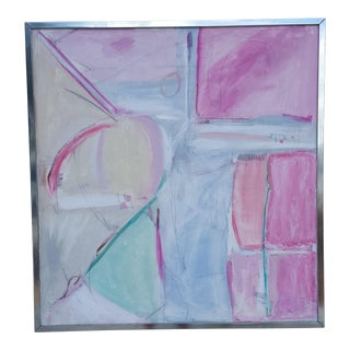 A Large Expressionist Painting Signed By Listed Artist Rosse L.