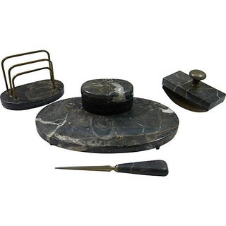 French Marble Desk Set - Set of 4