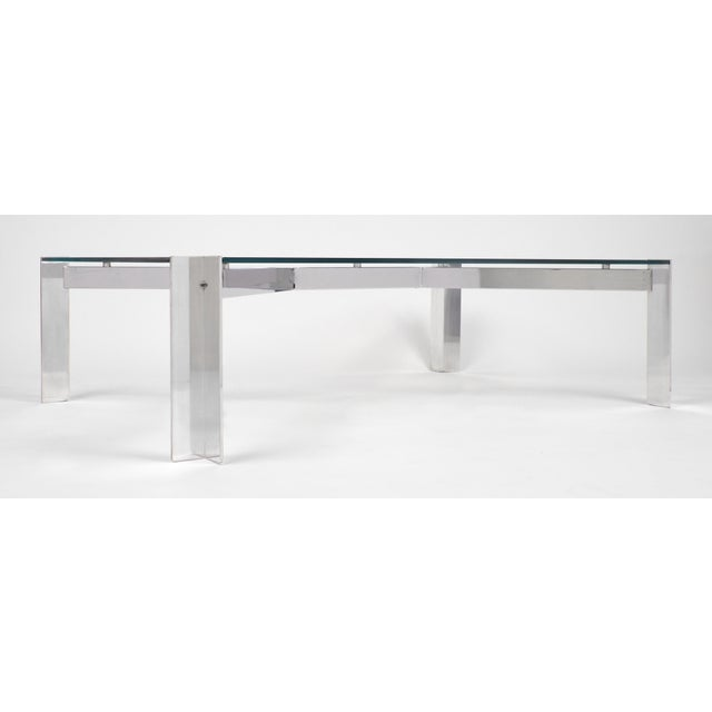 Image of Vintage Georges Frydman Chromed Steel Coffee Table