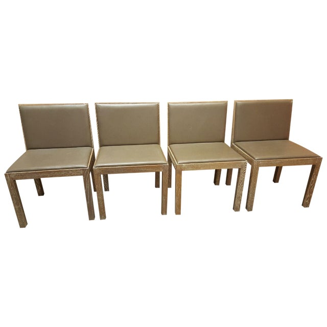 Jean Michel Frank Style Side Chairs- Set of 4 - Image 1 of 6