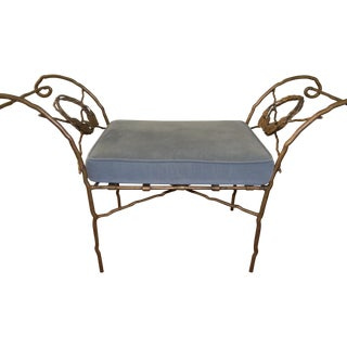 Wrought Iron Benches - a Pair