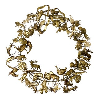 Petite Choses Brass Holiday Wreath