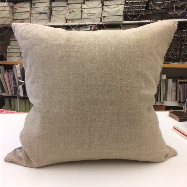 Heathrow Embroidered Linen Pillow Cover - Image 5 of 5
