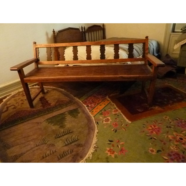 Reclaimed Tucker Robbins Exotic Wood Bench - Image 3 of 10