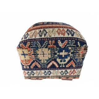 19th Century Caucasian Sumak Rug Ottoman