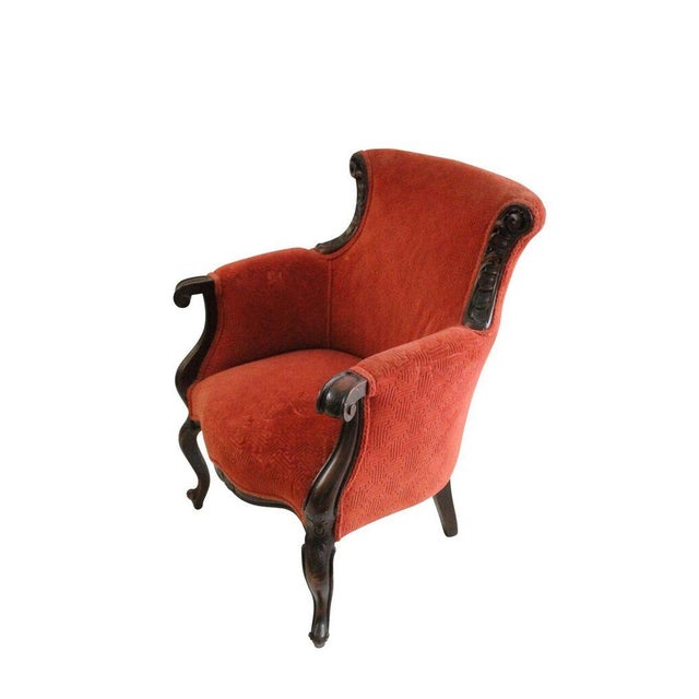 Crimson Club Chairs - A Pair - Image 2 of 3