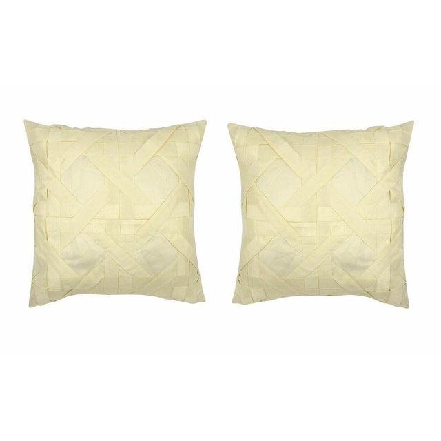 Image of Creme Lattice Pillows - Pair