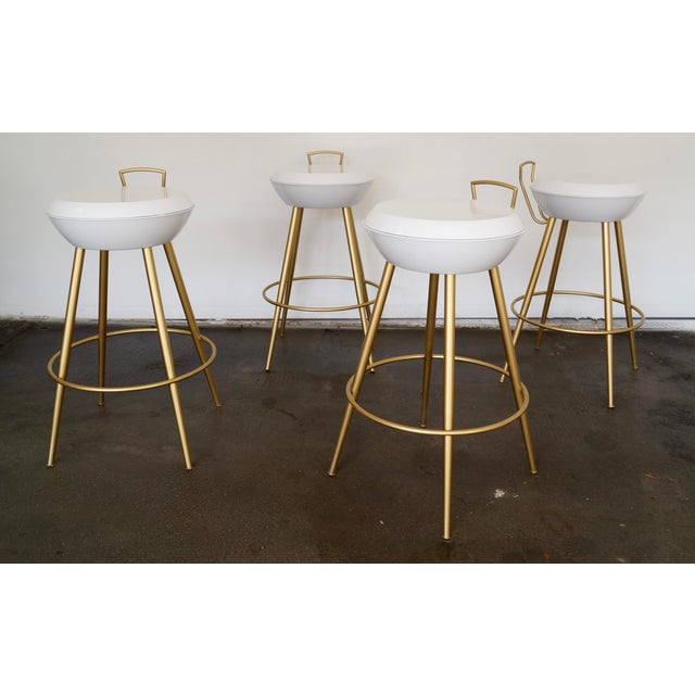 Mid-Century California Modern Bar Stools - Set of 4 - Image 6 of 11