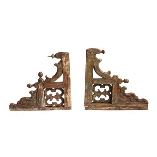 Colonial Teak Wood Architectural Brackets - A Pair