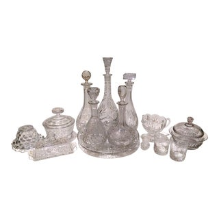 Collection of European Crystal Decanters & Serving Pieces - Set of 14