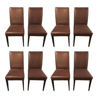 Mid-Century Leather Side Chairs - Set of 8