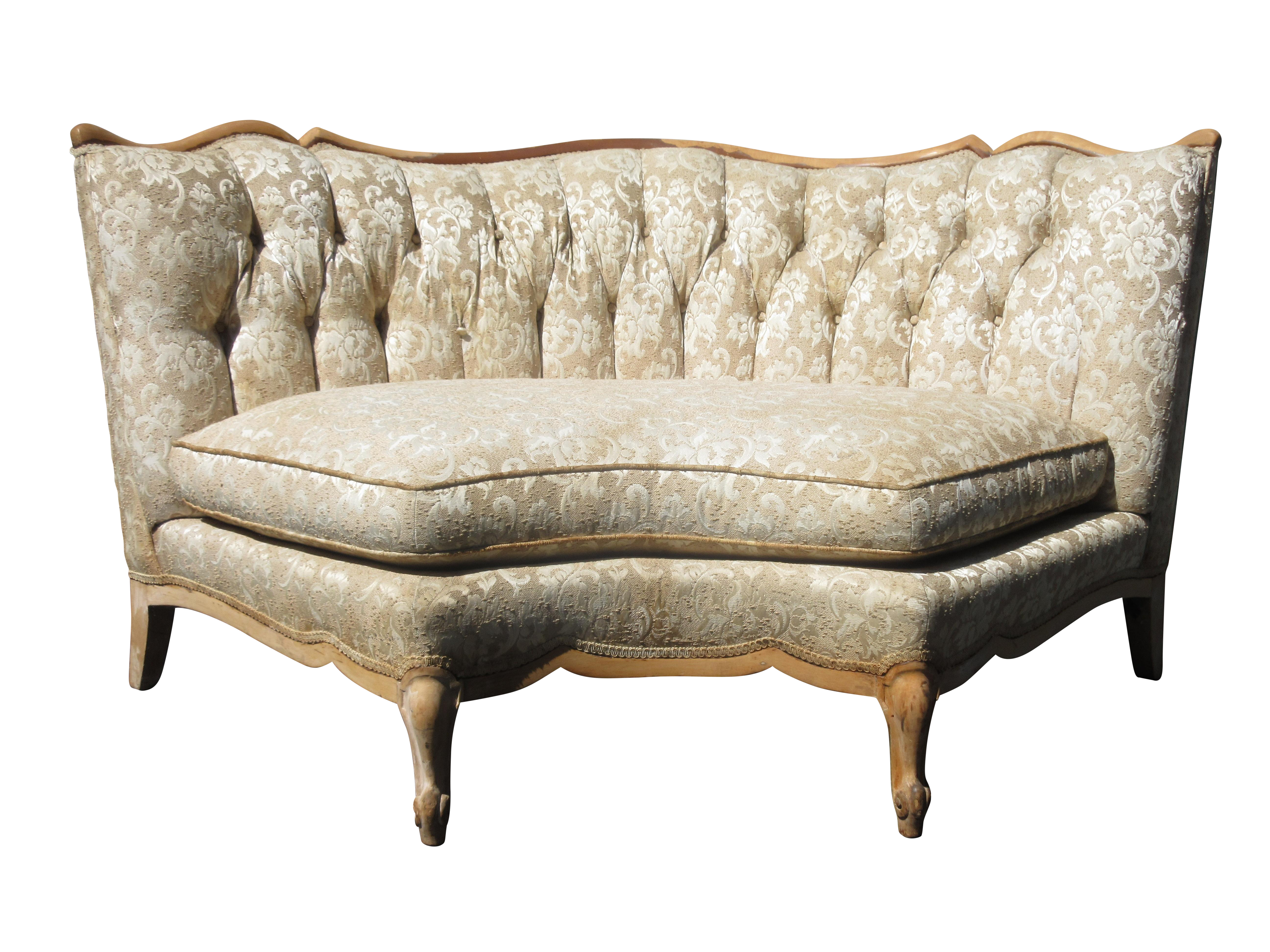 style curved tufted sofa chairish