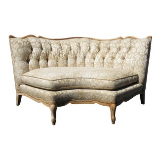 French-Style Curved Tufted Sofa