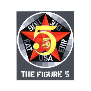 Robert Indiana, The Figure Five, 1997 Serigraph
