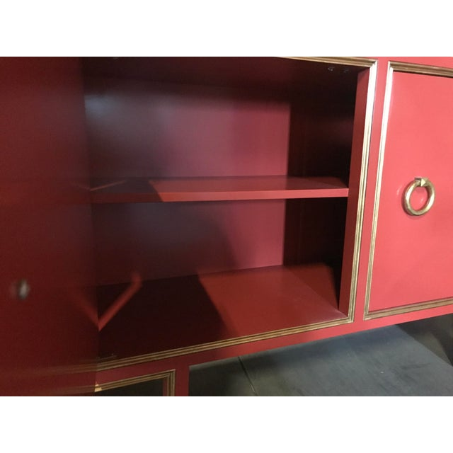 Truex American Furniture Red Lacquer St Regis Cabinet - Image 4 of 4