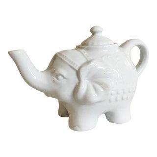 Vintage White Elephant Teapot