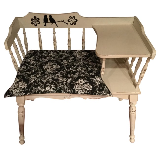 Vintage Phone Bench - Image 1 of 7