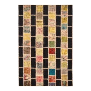 "Overdyed Distressed Patchwork Area Rug - 4'4"" x 6'7"""