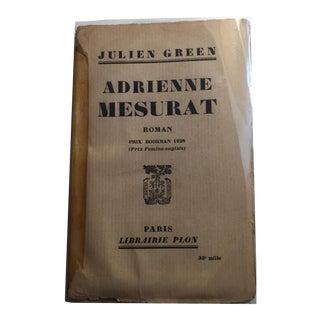 1927 Adrienne Mesurat Book by Julien Green
