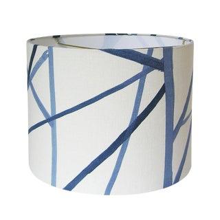 Periwinkle Fabric Drum Lamp Shade