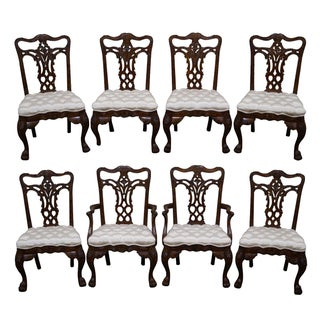 Maitland-Smith Mahogany Dining Chairs - Set of 8