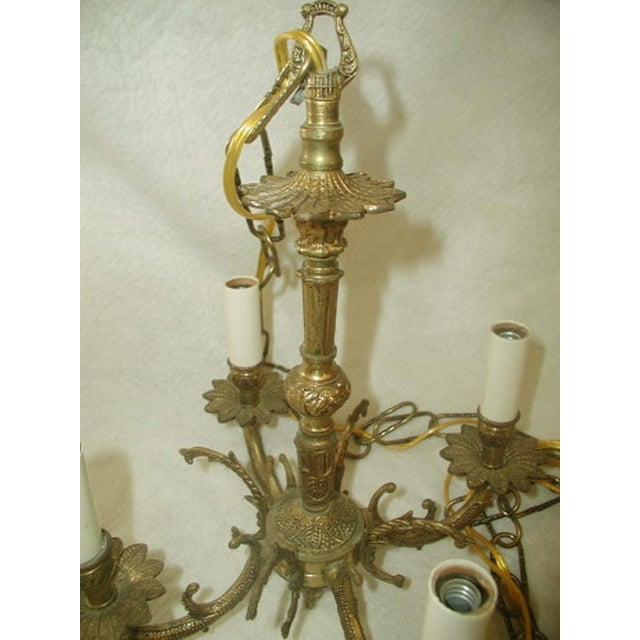 Early 20th-C. Spanish Brass Chandelier - Image 7 of 7