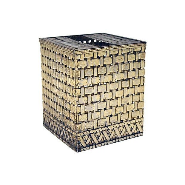 Bamboo Style Tissue Box Cover - Image 1 of 4