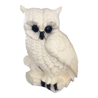 1973 Vintage Gallery Creations Chalk Ware Owl