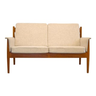 Grete Jalk For France & Son Teak & Wool Loveseat