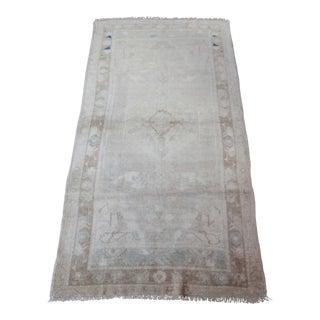 "Vintage Turkish Wool Rug - 3'7"" x 6'10"""