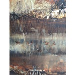 Image of Large Vintage Abstract Woodland Canvas Art