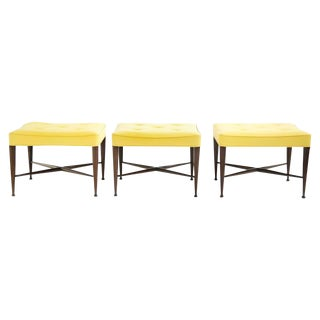 Set of Three Wormley X-Base Stools