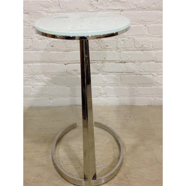 Contemporary Chrome C-Base Side Table - Image 4 of 4