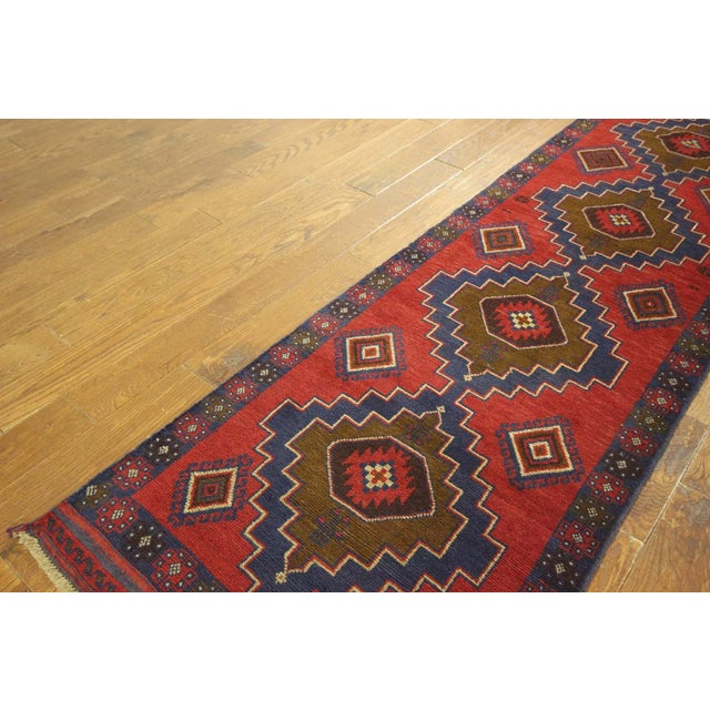 "Persian Tribal Baluch Runner Rug - 2'6"" x 9' - Image 5 of 7"