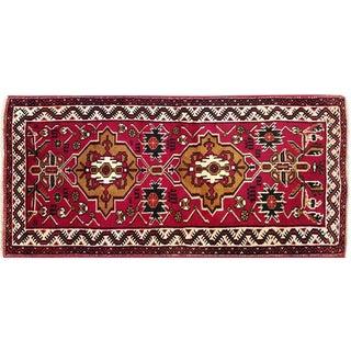 "Traditional Vintage Turkish Rug - 2' x 4'2"""